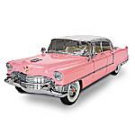 1 - 12 Scale Elvis Presley Pink 1955 Cadillac Sculpture Car