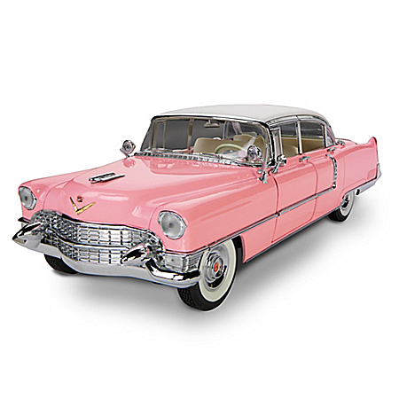 1:12 Scale Elvis Presley Pink 1955 Cadillac Sculpture Car