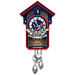 NFL-Licensed Houston Texans Football Wall Cuckoo Clock