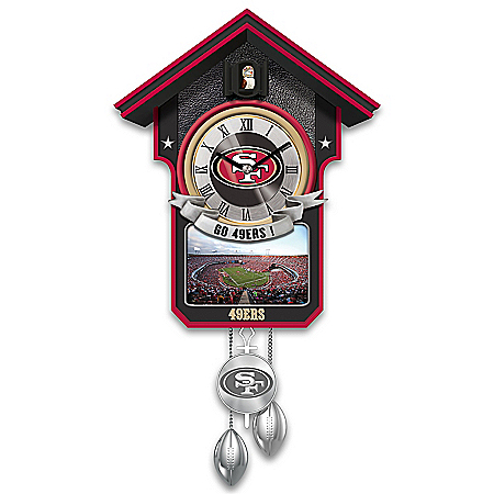 Cuckoo Clock: Limited Edition San Francisco 49ers Cuckoo Clock Featuring Bird With Helmet