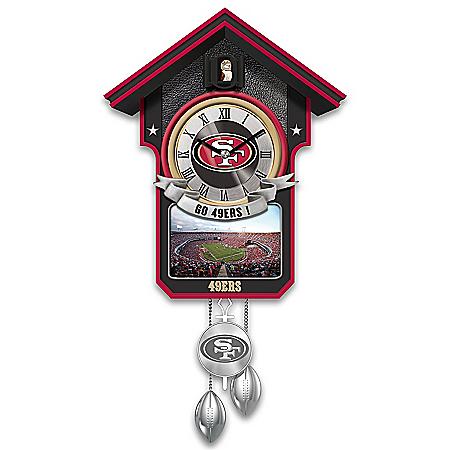 San Francisco 49ers NFL-Licensed Cuckoo Clock: 1 of 10,000