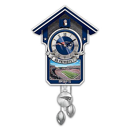Cuckoo Clock: New England Patriots Cuckoo Clock