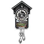 NFL-Licensed Oakland Raiders Cuckoo Clock Featuring Bird With Helmet