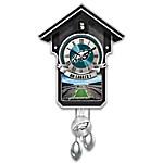 NFL-Licensed Philadelphia Eagles Cuckoo Clock Featuring Bird With Helmet