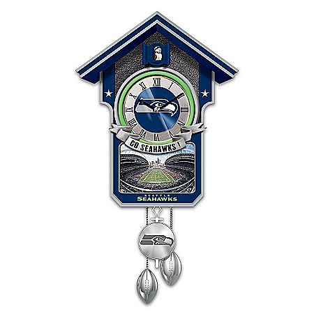 Seattle Seahawks NFL-Licensed Cuckoo Clock: 1 of 10,000