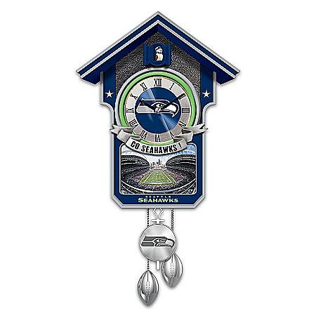 Seattle Seahawks NFL-Licensed Cuckoo Clock: 1 of 10,000