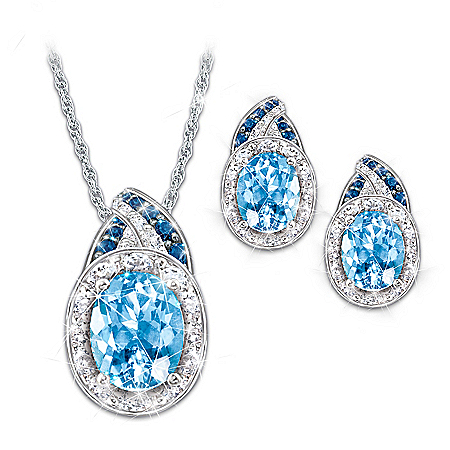 Alfred Durante Rapture Pendant Necklace And Earrings Set
