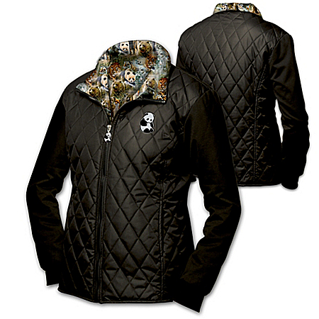 John Seerey-Lester Protect The Wild Women's Quilted Jacket Featuring The Endangered Panda