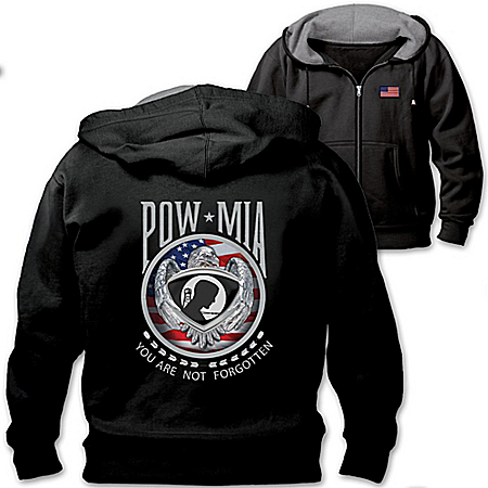 POW-MIA Tribute Never Forgotten Men's Hoodie