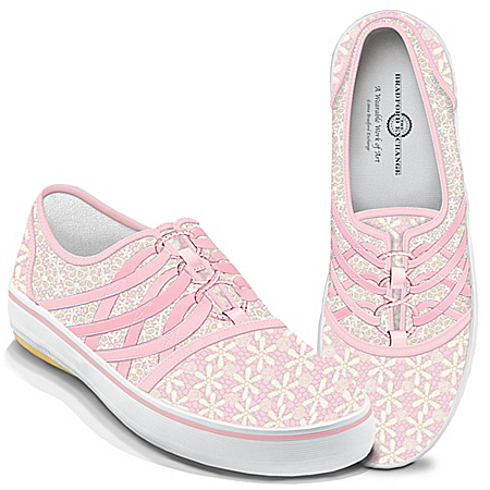 Breast Cancer Awareness Laced With Hope Women's Shoes