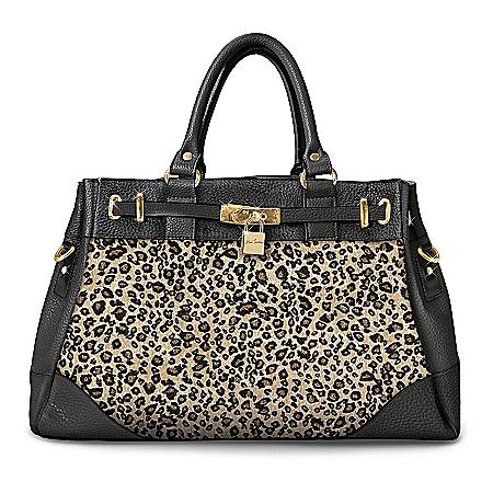 Alfred Durante Nairobi Satchel-Style Women's Designer Handbag With Leopard Print
