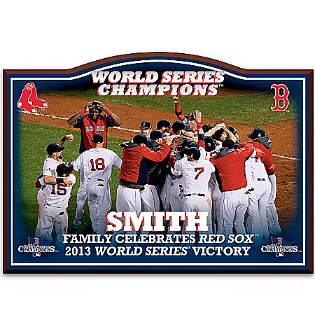 Wall Decor: Boston Red Sox 2013 World Series Personalized Welcome Sign