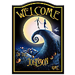 Welcome Sign - Tim Burton's The Nightmare Before Christmas Personalized Welcome Sign