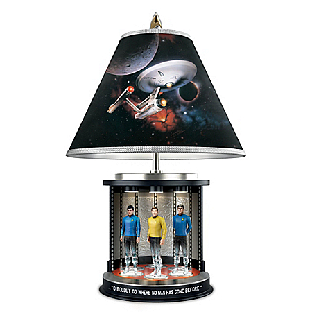STAR TREK Transporter Tabletop Lamp With Spock, Captain Kirk And McCoy