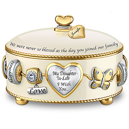 Music Box: Daughter-In-Law, I Wish You Personalized Music Box – Personalized Jewelry