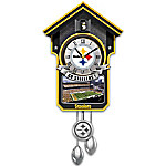 NFL-Licensed Cuckoo Clock Featuring Bird With Helmet: Choose Your Favorite Football Team