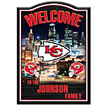 Welcome Sign - Kansas City Chiefs Personalized Welcome Sign