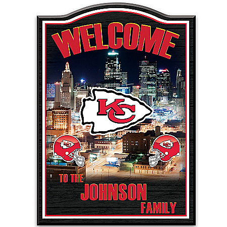 Welcome Sign: Kansas City Chiefs Personalized Welcome Sign