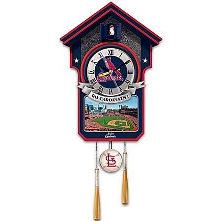 Cuckoo Clock: Moments Of Greatness St. Louis Cardinals Cuckoo Clock