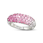 Ring - Breast Cancer Awareness Shades Of Hope Diamonesk Ring