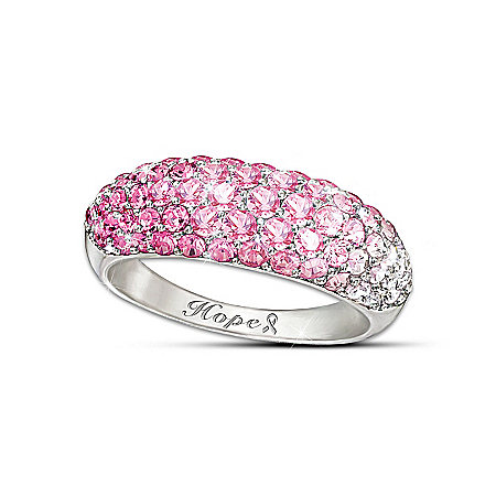 Ring: Breast Cancer Awareness Shades Of Hope Diamonesk Ring