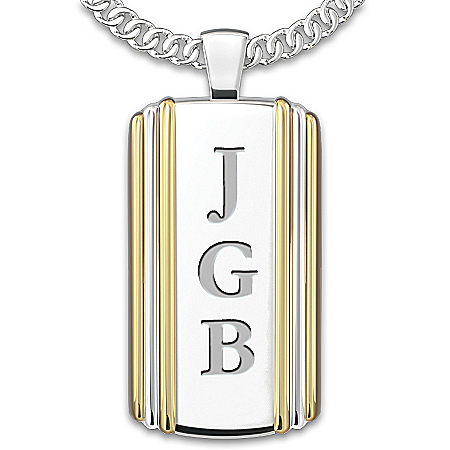 Always, My Grandson Personalized Dog Tag Pendant Necklace