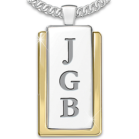 Necklace: Yesterday, Today And Forever Personalized Dog Tag Pendant Necklace
