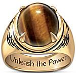Ring - Genuine Tiger's Eye Stone Men's Ring