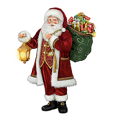 Thomas Kinkade: Delivering Holiday Cheer Personalized Santa Sculpture