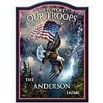 Welcome Sign - We Support Our Troops Personalized Welcome Sign