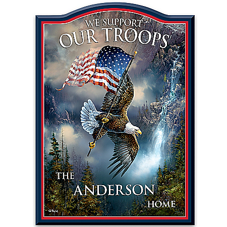Welcome Sign: We Support Our Troops Personalized Welcome Sign