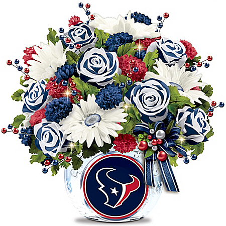 NFL-Licensed Houston Texans Blooming With Pride Floral Arrangement Table Centerpiece