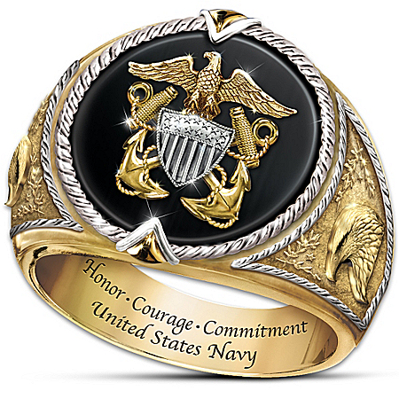 Ring: Honor, Courage And Commitment U.S. Navy Tribute Ring
