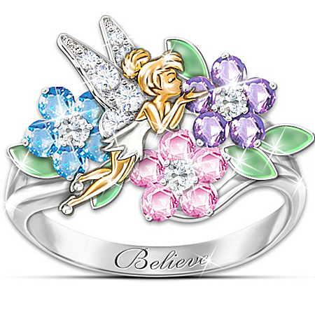 Disney Tinkerbell Ring: Tinker Bell's Garden Of Magic Floral Ring