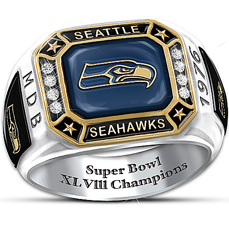 Ring: Seahawks Pride Personalized Commemorative Ring – Personalized Jewelry