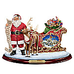 Thomas Kinkade Almost Christmas Sculpture With Lights Music And Motion