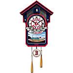 Officially Licensed Boston Red Sox Baseball Cuckoo Clock