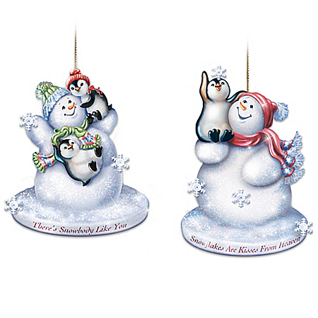 Dona Gelsinger The Warmth Of Christmas Illuminated Glass Ornaments: Set One