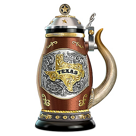 Texas Pride Heirloom Porcelain Stein