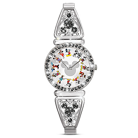 Disney Mickey Mouse Through The Years Women's Stretch Watch