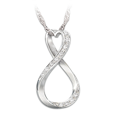 Necklace: Forever My Daughter Diamond Pendant Necklace – Graduation Gift Ideas