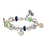Bracelet - #1 Fan Seattle Seahawks Super Bowl Charm Bracelet With Genuine Swarovski Crystals
