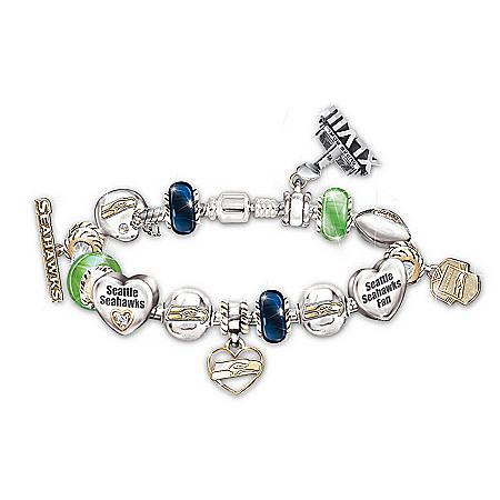 NFL Seattle Seahawks Super Bowl XLVIII Women's Charm Bracelet