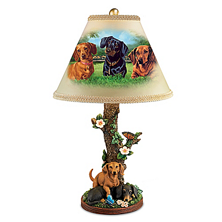 Linda Picken Darling Dachshunds Accent Table Lamp