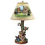 Youthful Yorkies Table Lamp