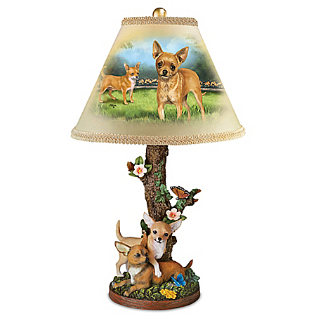 Charming Chihuahuas Table Lamp