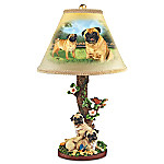 Linda Picken Playful Pugs Sculpture Lamp