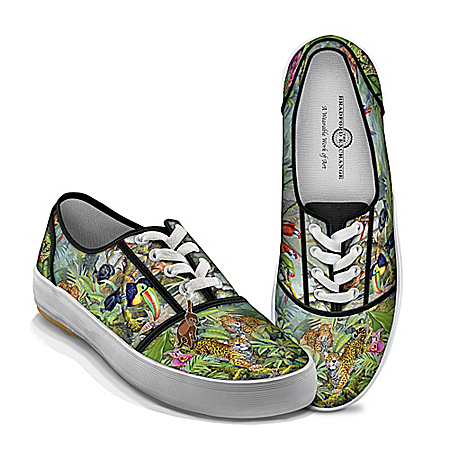 Tim Knepp Animal Kingdom Women's Canvas Shoes