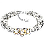 Love For Today, Tomorrow And Always Personalized Diamond Bracelet
