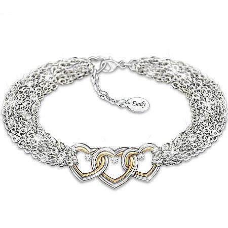 Love For Today, Tomorrow And Always Personalized Diamond Bracelet – Personalized Jewelry
